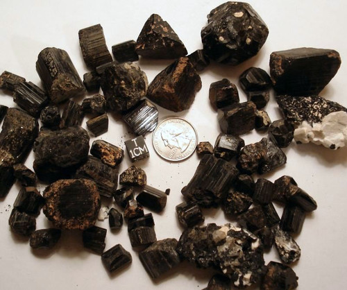 Black Tourmaline, Large Raw Schorl Crystal