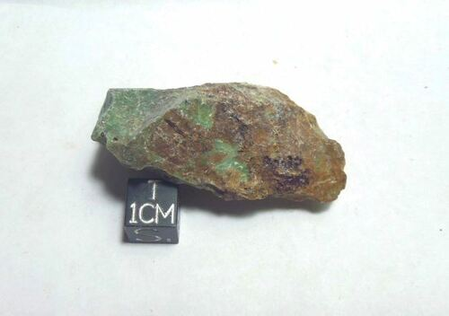 Chrysocolla, Rough Green and Orange Specimen, 21g