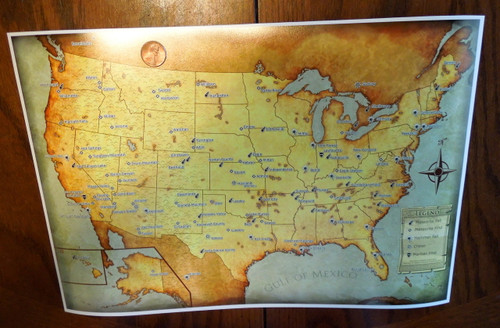 Meteorites of the United States Map