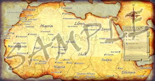 NWA Saharan Meteorite Map