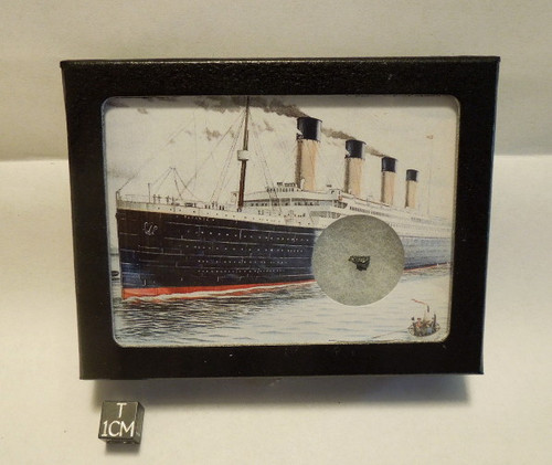 Titanic Display with Authentic Coal Salvaged from the Wreck