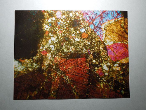 Bilanga Diogenite Meteorite, Thin Section Postcard