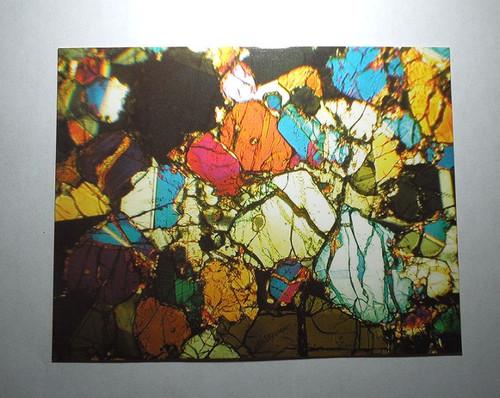 Martian Meteorite Postcard, NWA 998 Nakhlite