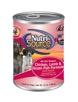 NutriSource Chicken, Lamb, Ocean Fish 13oz
