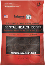 Indigenous Dental Health Bone - Bacon Flavor 17 oz