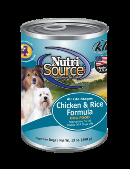 NutriSource Chicken & Rice 13oz