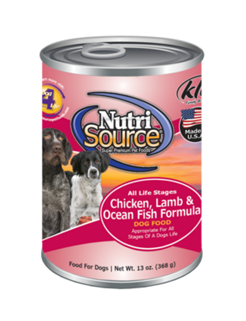 NutriSource Chicken, Lamb, Ocean Fish 13oz
