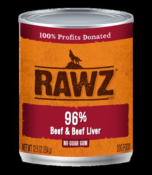 Rawz 96% Beef & Beef Liver