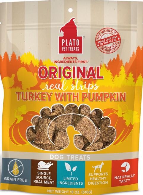 Plato Real Strips Turkey With Pumpkin 18 oz EOS
