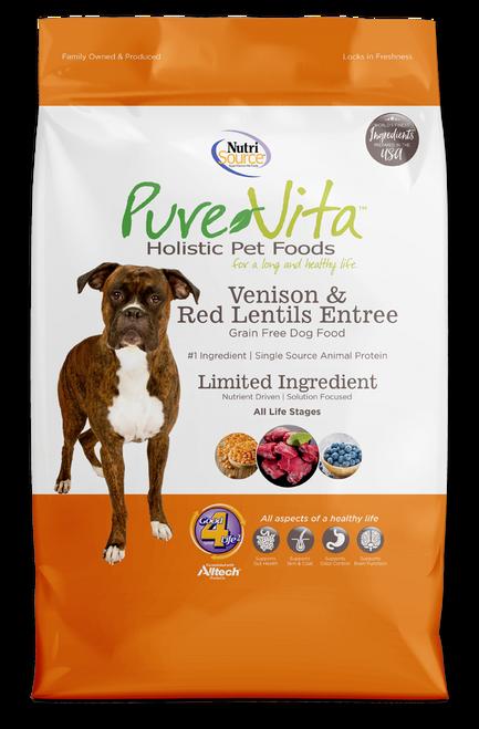 NutriSource PureVita Venison & Red Lentils