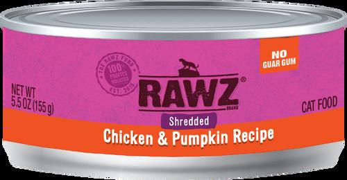 Rawz Cat Shredded Chicken & Pumpkin  5.5 oz