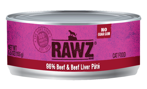 Rawz Cat Beef & Beef Liver  5.5 oz