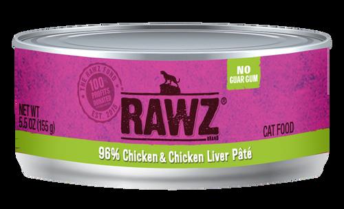 Rawz Cat Chicken & Chicken Liver  5.5 oz