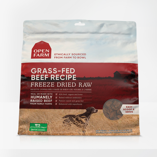 Grass-Fed Beef Freeze Dried Raw Dog Food 13oz