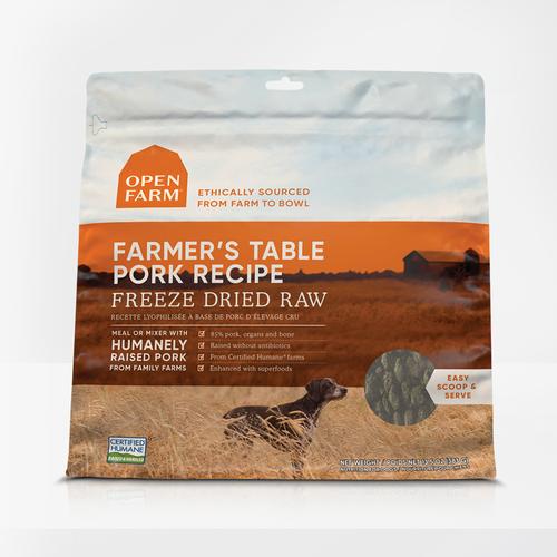 Farmer's Table Pork Freeze Dried Raw Dog Food 13oz