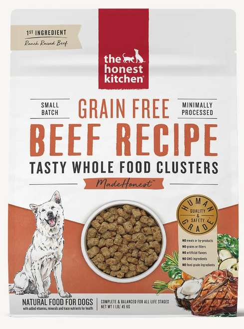 Honest Kitchen Whole Food Clusters Grain Free Beef