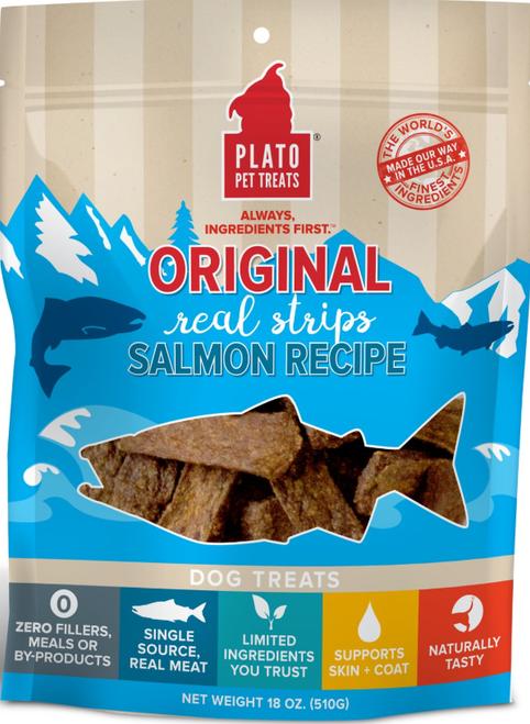 Plato Real Strips Salmon 18 oz