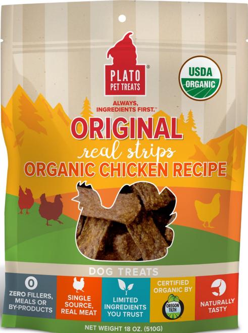 Plato Real Strips Organic Chicken 18 oz