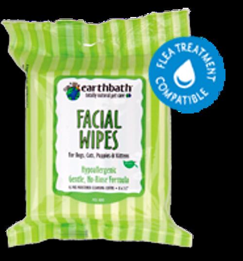 EarthBath Facial Wipes (25 Pre-Moistened Cloths)