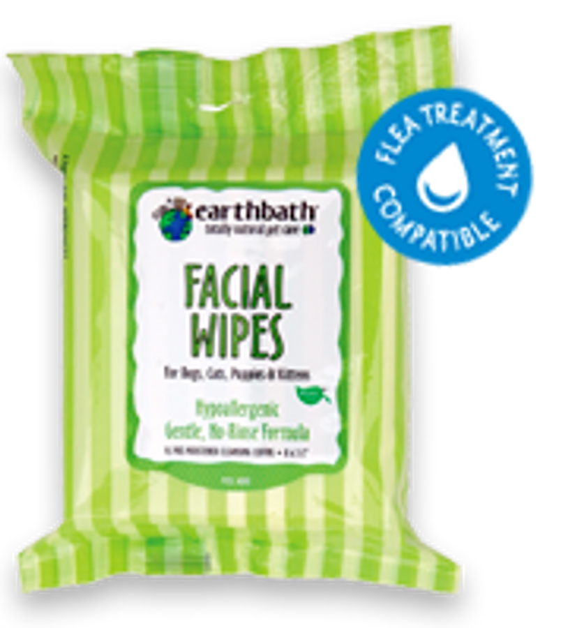 EarthBath Facial Wipes (25 Pre-Moistened Cloths)