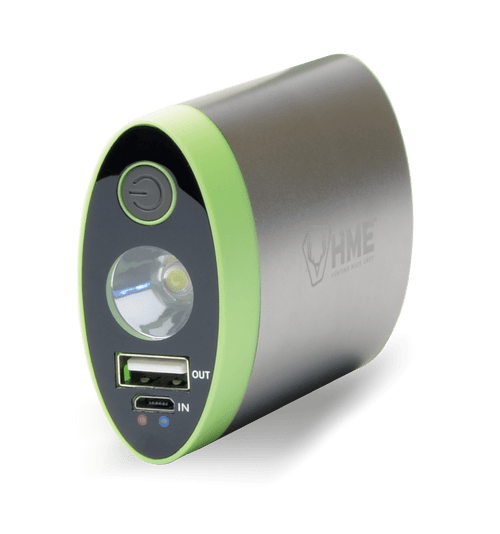 HME Hand Warmer - 4,400 MAH with Built in Flashlight