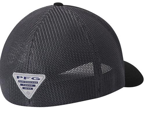 Columbia PFG Mesh Fish Flag Ball Cap Black Graphite