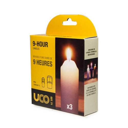 UCO 9-Hour Candle 3pk