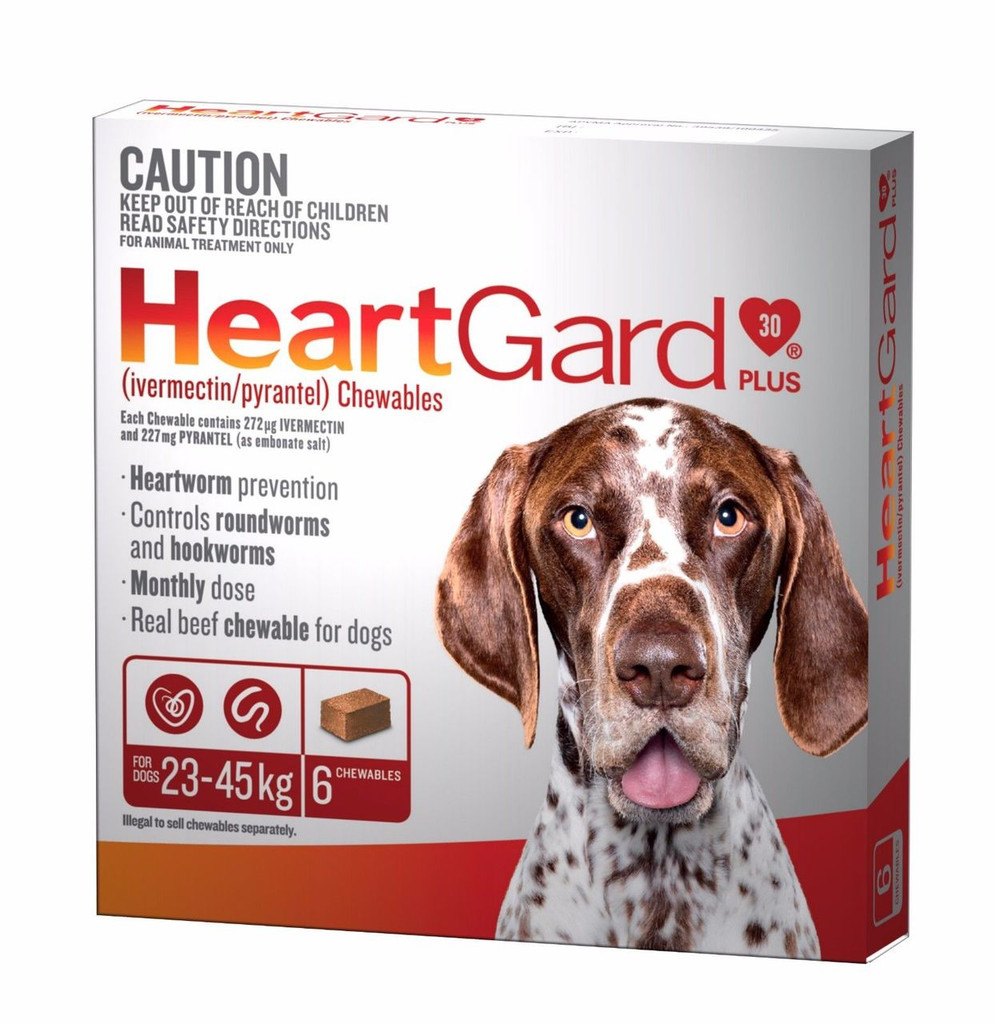Heartgard Chewables Plus Brown 6 Pack