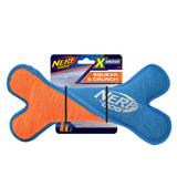 NERF DOG X Weave Squeak Twist Bone Blue/Orange 24cm