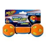 NERF DOG Rubber Bash LED Barbell Blue/Orange 10.5cm