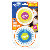 NERF DOG Armour Ball Set - Twin Pack Yellow/Pink & Blue/Green