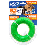 NERF DOG Scentology Ring, Beef Scent, Clear/Green 12.5cm
