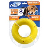 NERF DOG Scentology Ring, Chicken Scent, Clear/Yellow 15cm