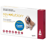 Revolution for Dogs 10.1-20kg - Red 3 Pack with Bonus Canex Worming Tablets