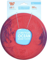 West Paw Seaflex Recycled Plastic Flyer Dog Toy - Sailz - Hibiscus