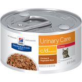 Hills Prescription Diet Feline c/d Urinary Care Multicare Stress Chicken & Vegetable Stew Wet Cat Food 82g x 24