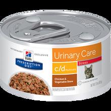 Hills Prescription Diet Feline c/d Urinary Care Multicare Stress Chicken & Vegetable Stew Wet Cat Food 82g x 24
