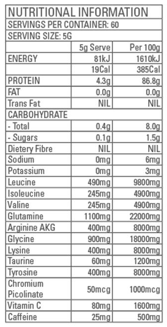 Amino Lean Premium Blend Tropical (Vegan) 300g