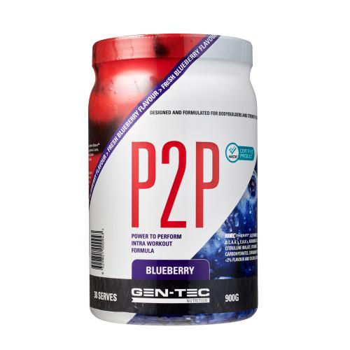 P2P Advanced Intra Workout Formula Blueberry (Vegan) 900g
