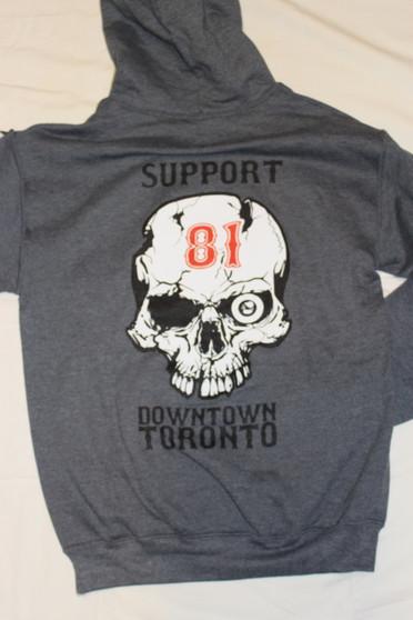 81 GREY skull hoodie