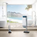 Menoto Matte Toilet Paper Holder and Brush