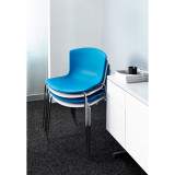 Bertoia Molded Shell Side Chair with Stacking Base by Knoll