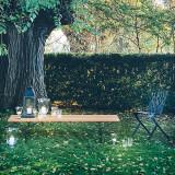 Bertoia Outdoor Teak Bench by Knoll