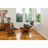 Eames Tall Lounge Chair and Ottoman by Herman Miller - In Stock
