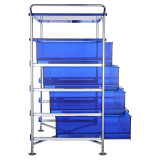 Mobil 4-Drawer Container and Shelf by Kartell