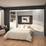 "Pur 120"" Full Wall Bed Kit with 2 Doors by Bestar"