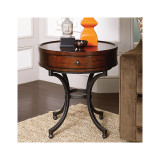 Barrow Round End Table by Hammary