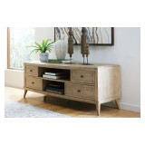 Oblique Entertainment Console by Hammary