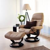Stressless Sunrise Chair and Ottoman, Medium by Ekornes