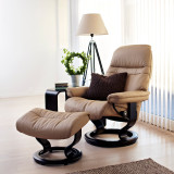 Stressless Sunrise Chair and Ottoman, Large by Ekornes